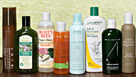 organic shampoo collage
